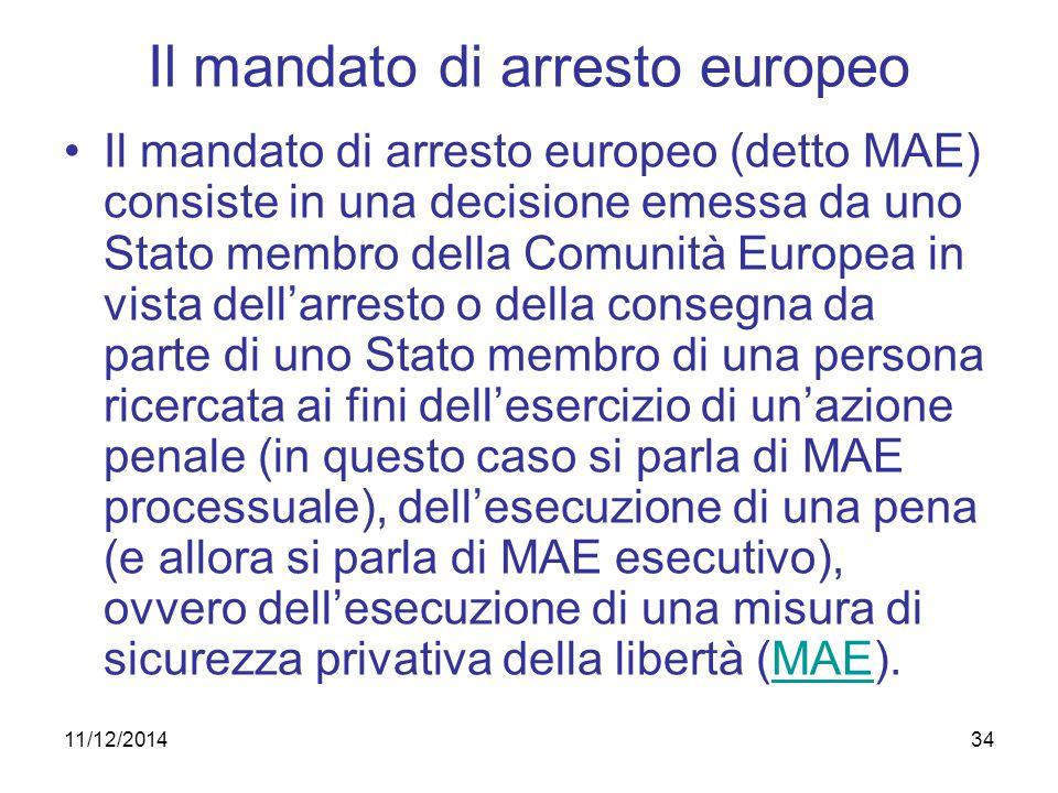 Il mandato di arresto europeo