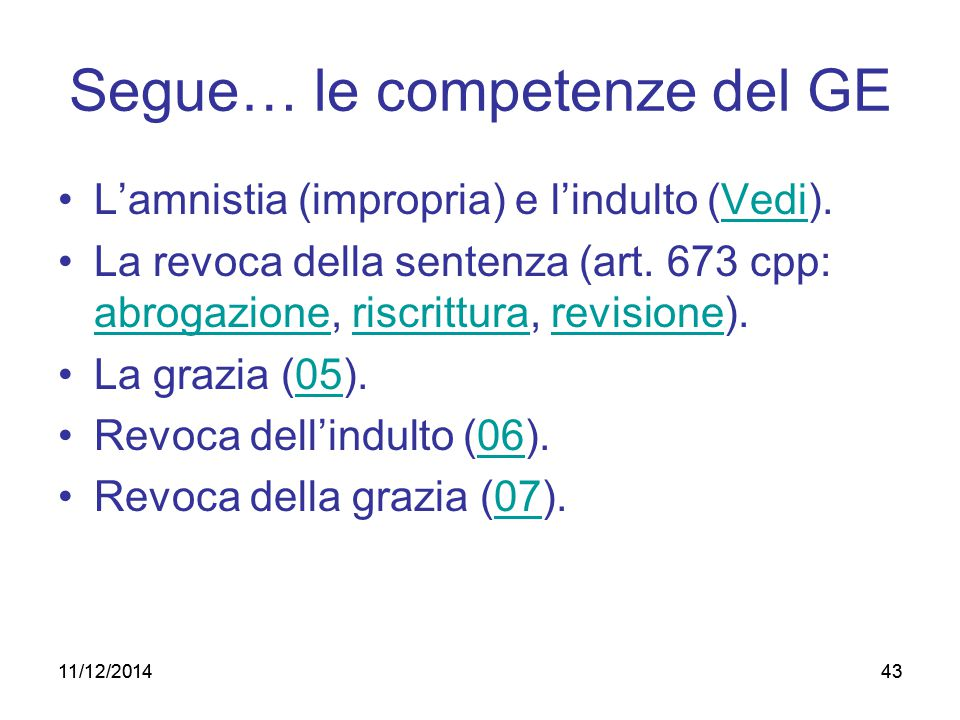 Segue… le competenze del GE