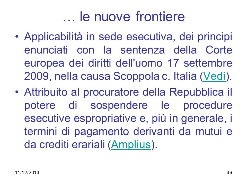 … le nuove frontiere