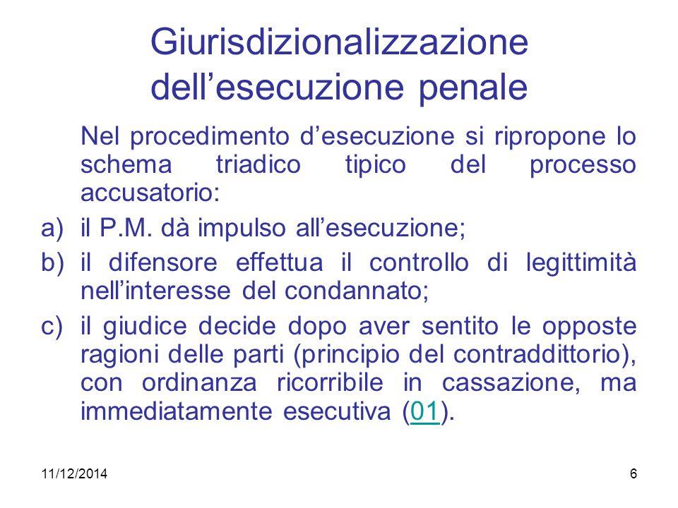 Giurisdizionalizzazione dell'esecuzione penale