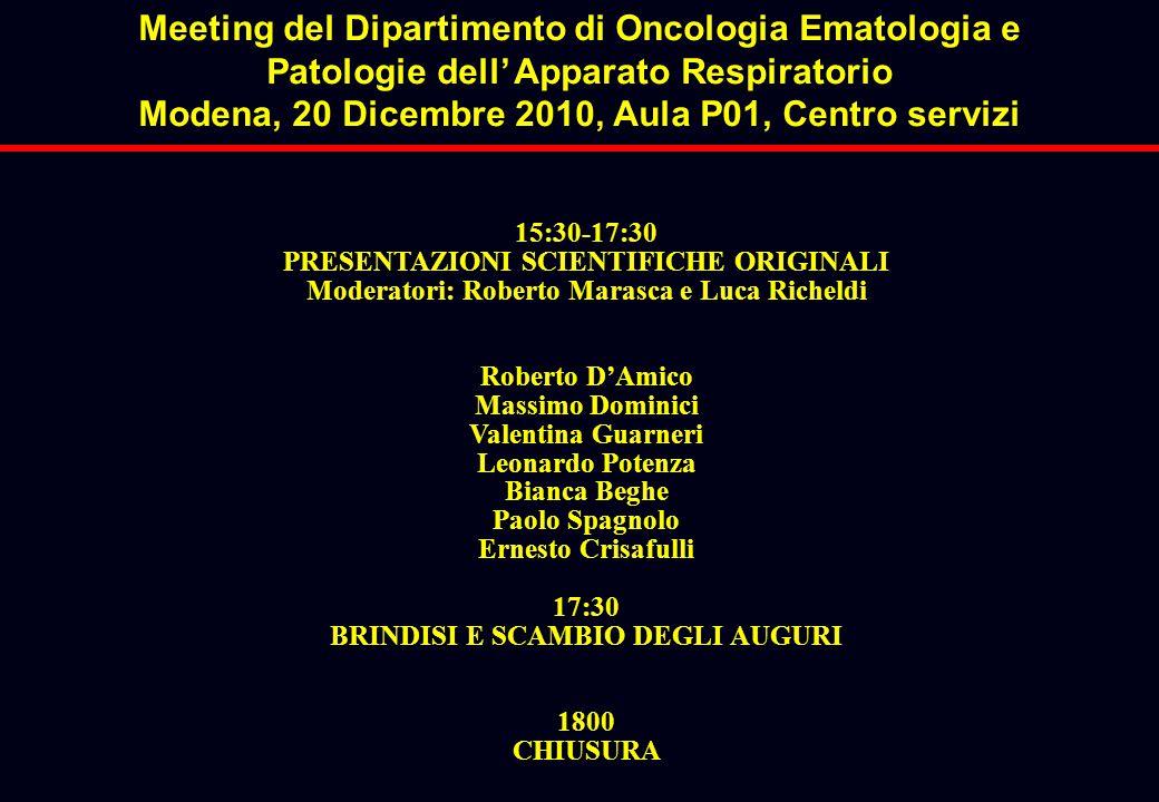 Meeting del Dipartimento di Oncologia Ematologia e