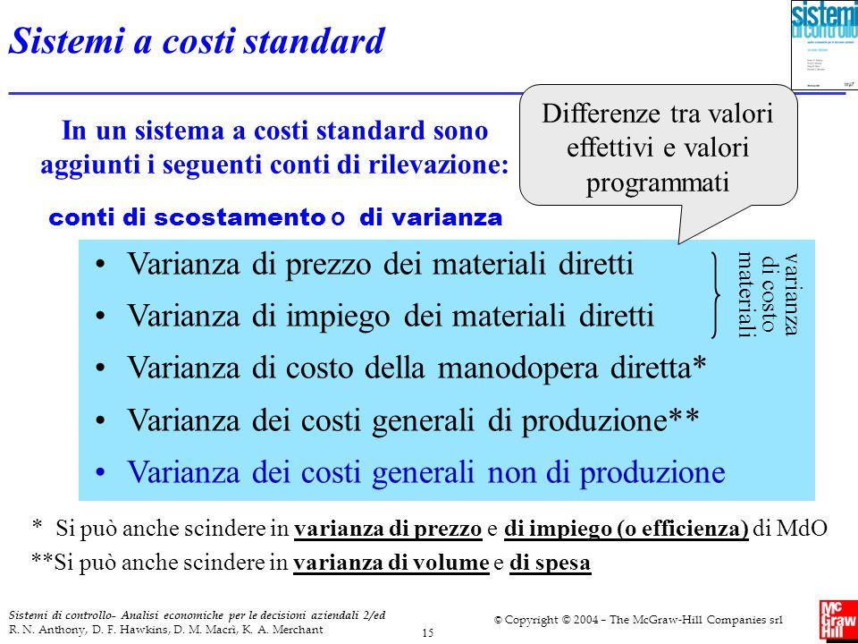 Sistemi a costi standard