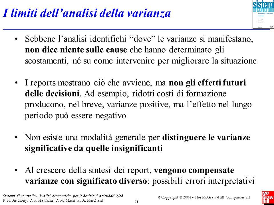 I limiti dell'analisi della varianza