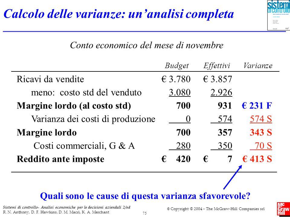 Calcolo delle varianze: un'analisi completa