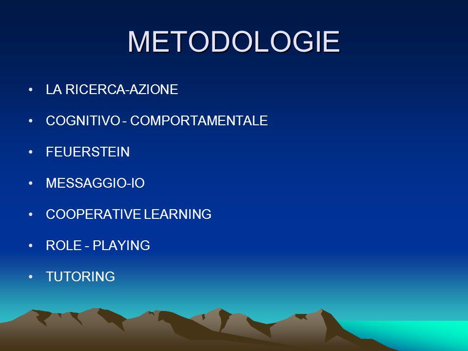 METODOLOGIE LA RICERCA-AZIONE COGNITIVO - COMPORTAMENTALE FEUERSTEIN