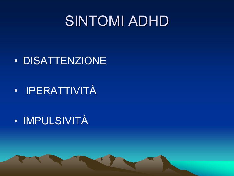SINTOMI ADHD DISATTENZIONE IPERATTIVITÀ IMPULSIVITÀ