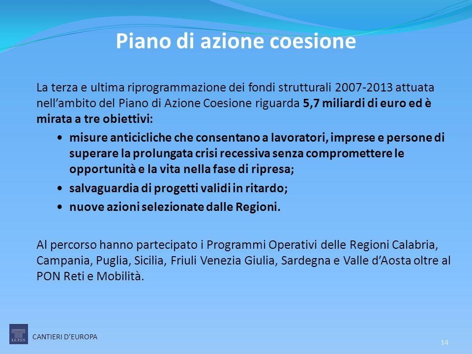 Piano di azione coesione