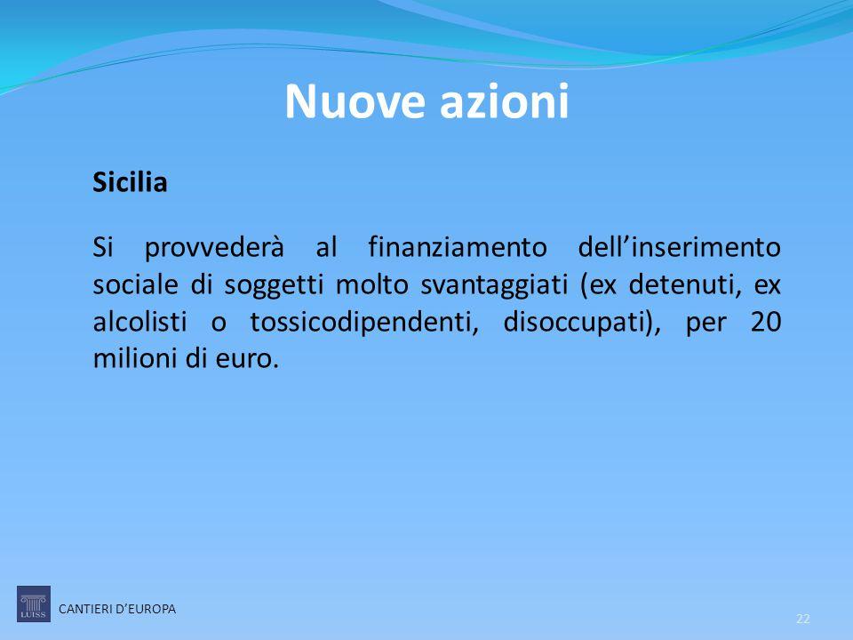 Nuove azioni Sicilia.