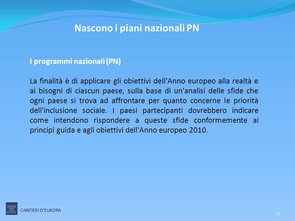 Nascono i piani nazionali PN