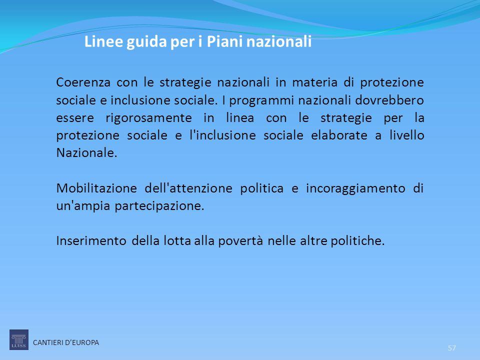 Linee guida per i Piani nazionali