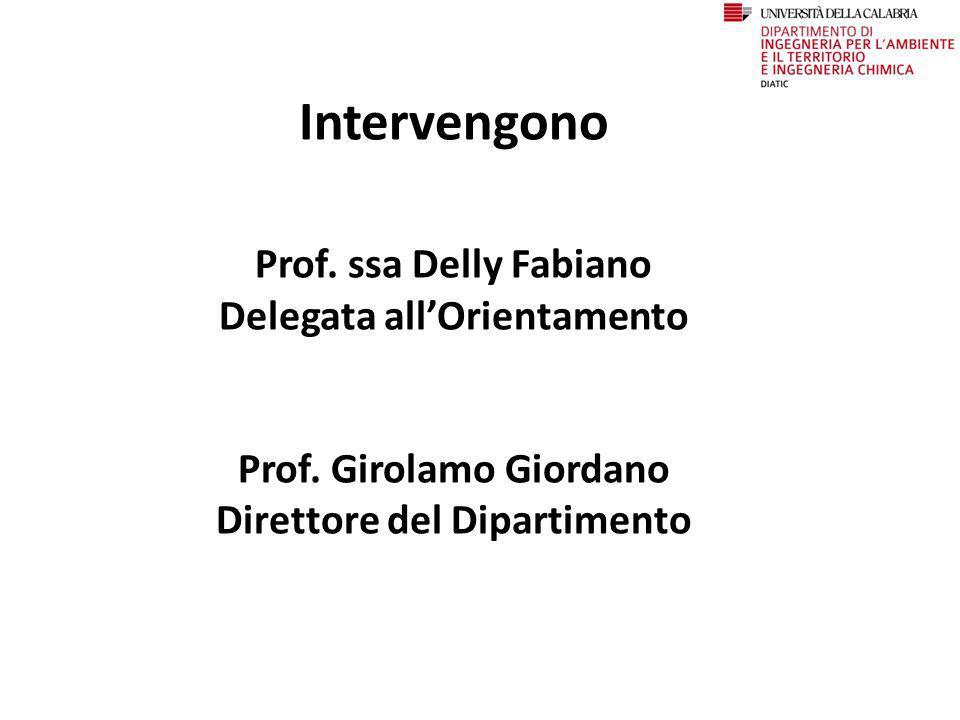 Intervengono Prof. ssa Delly Fabiano Delegata all'Orientamento