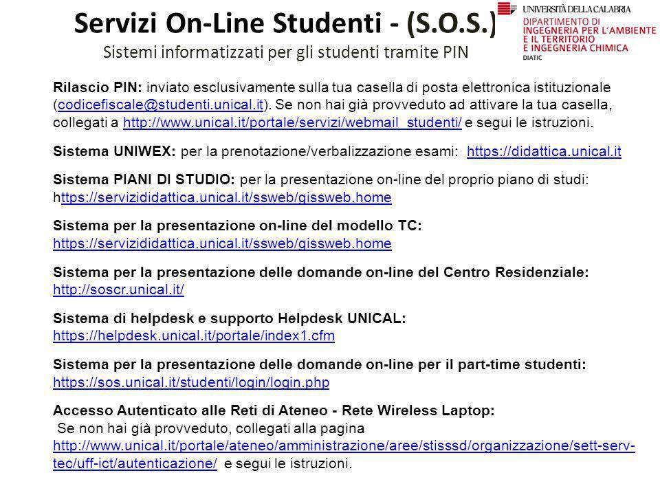 Servizi On-Line Studenti - (S.O.S.)