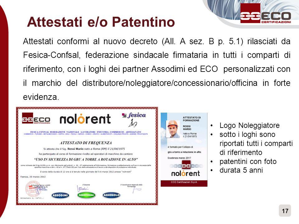 Attestati e/o Patentino