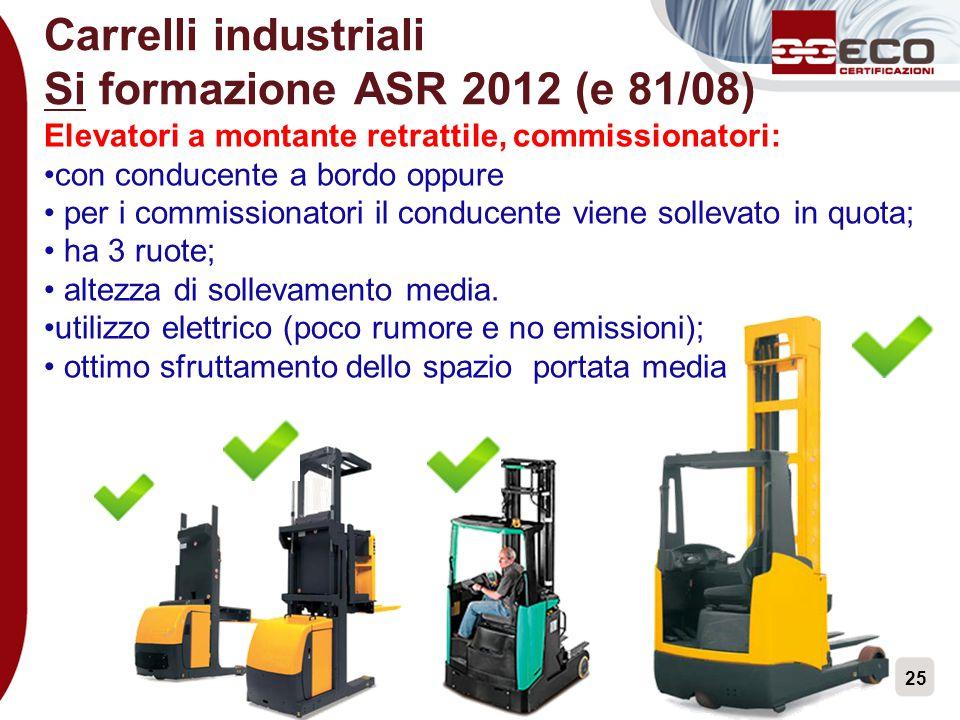 Carrelli industriali Si formazione ASR 2012 (e 81/08)