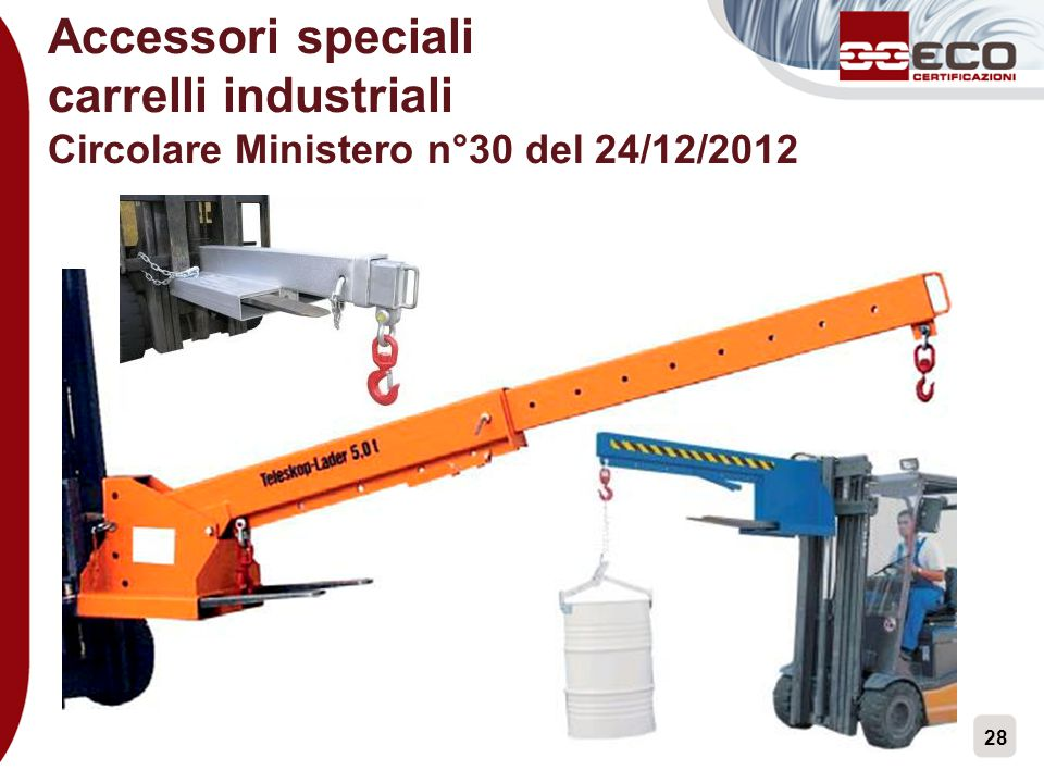 Accessori speciali carrelli industriali