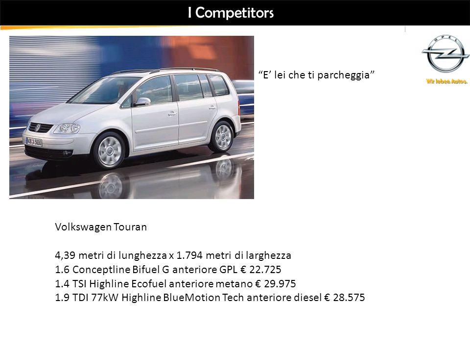 I Competitors E' lei che ti parcheggia Volkswagen Touran