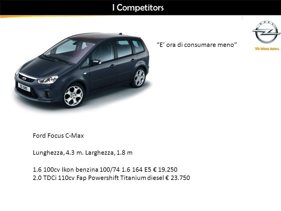 I Competitors E' ora di consumare meno Ford Focus C-Max