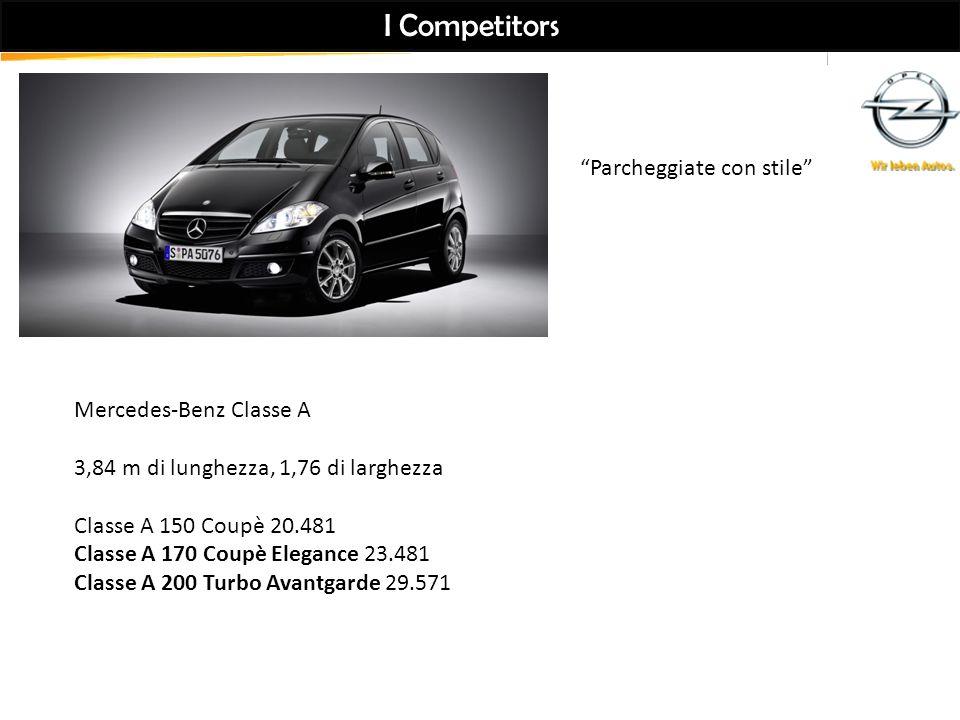 I Competitors Parcheggiate con stile Mercedes-Benz Classe A