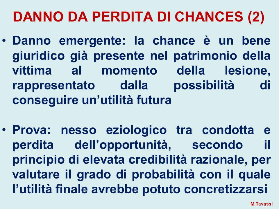 DANNO DA PERDITA DI CHANCES (2)
