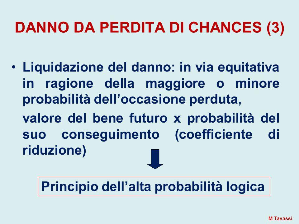DANNO DA PERDITA DI CHANCES (3)