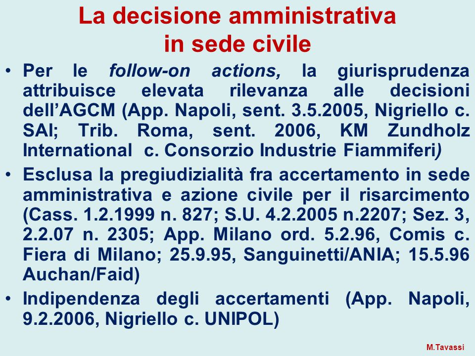 La decisione amministrativa in sede civile