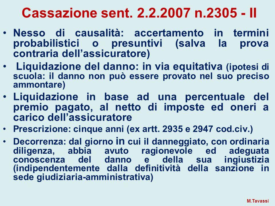 Cassazione sent. 2.2.2007 n.2305 - II