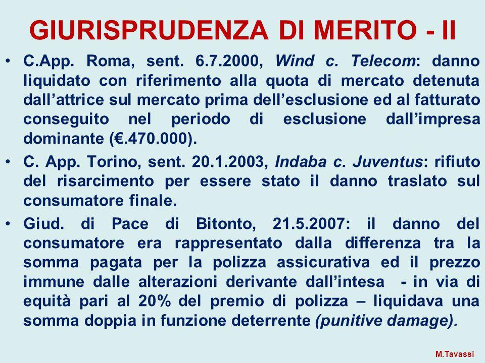 GIURISPRUDENZA DI MERITO - II