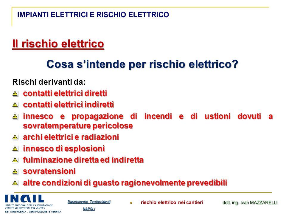 Cosa s'intende per rischio elettrico