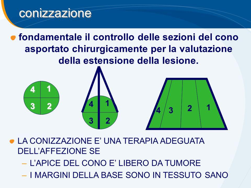 conizzazione fondamentale il controllo delle sezioni del cono asportato chirurgicamente per la valutazione della estensione della lesione.