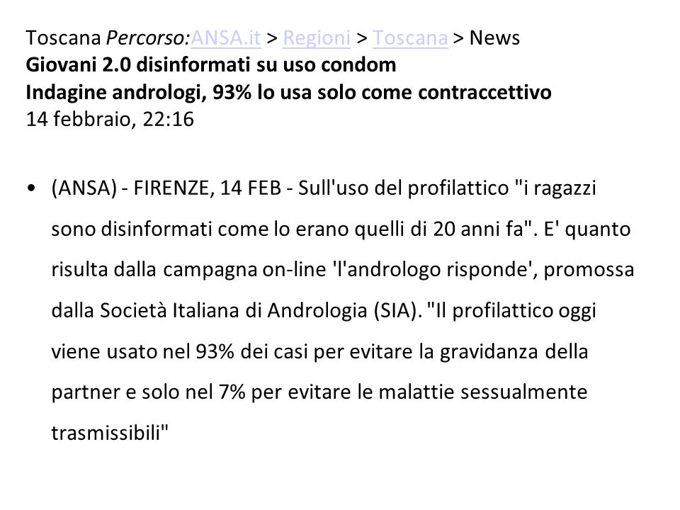 Toscana Percorso:ANSA.it > Regioni > Toscana > News