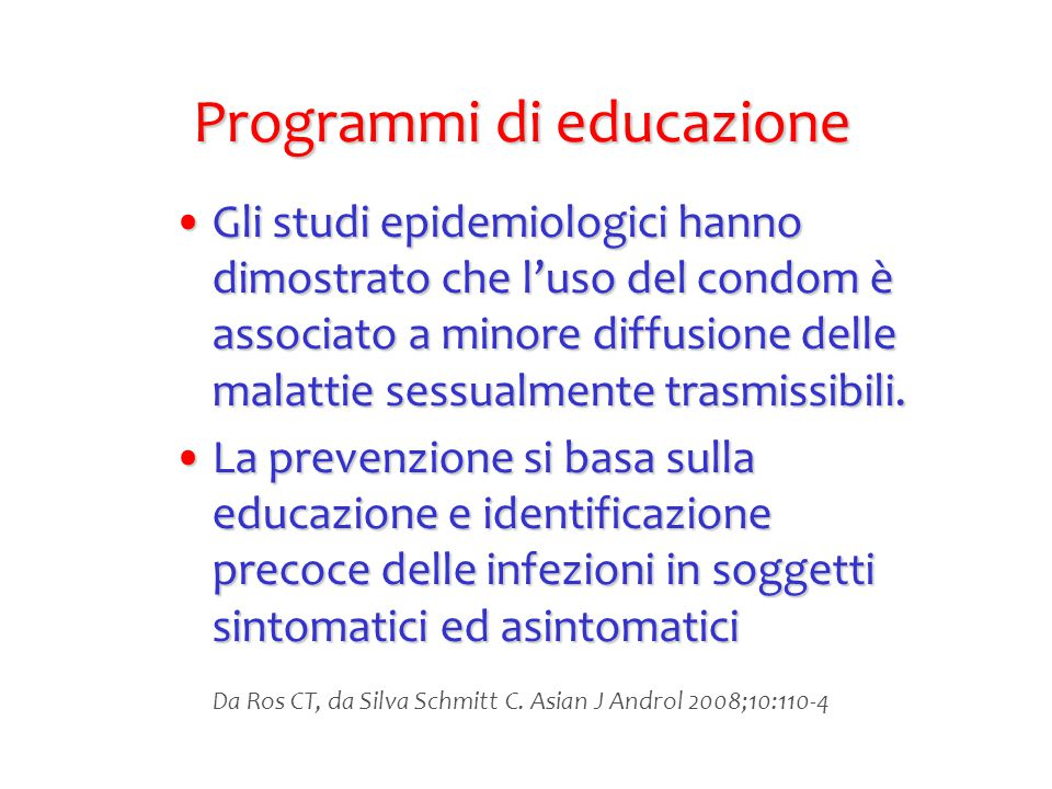 Programmi di educazione