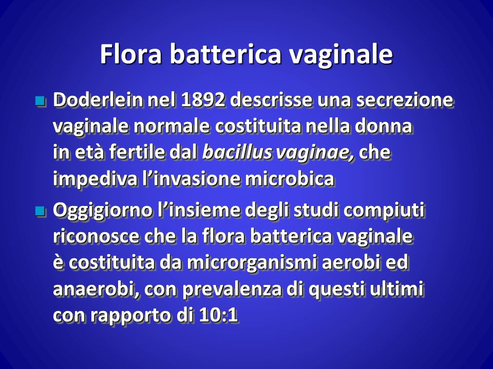 Flora batterica vaginale