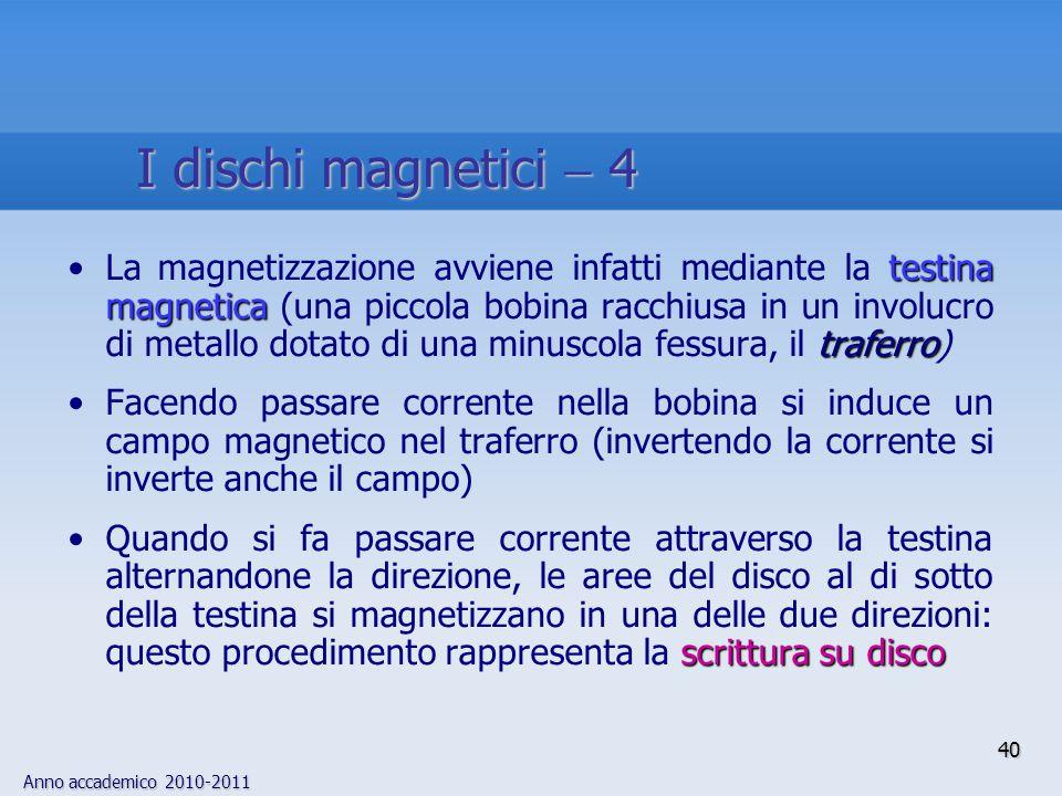 I dischi magnetici  4