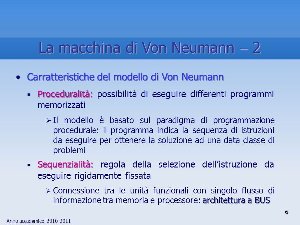 La macchina di Von Neumann  2