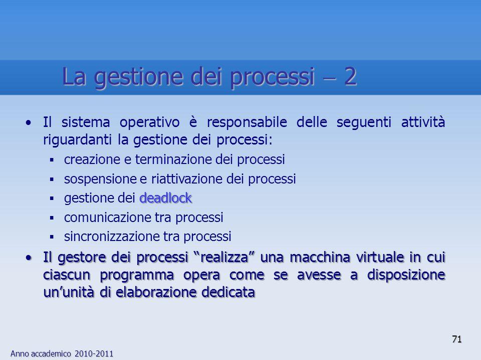 La gestione dei processi  2