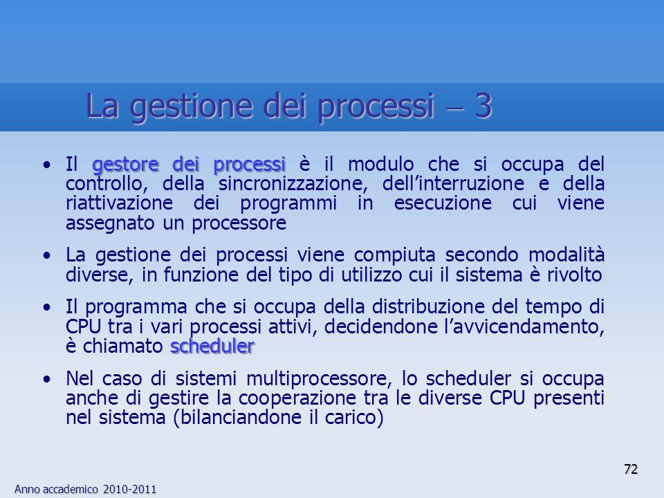 La gestione dei processi  3