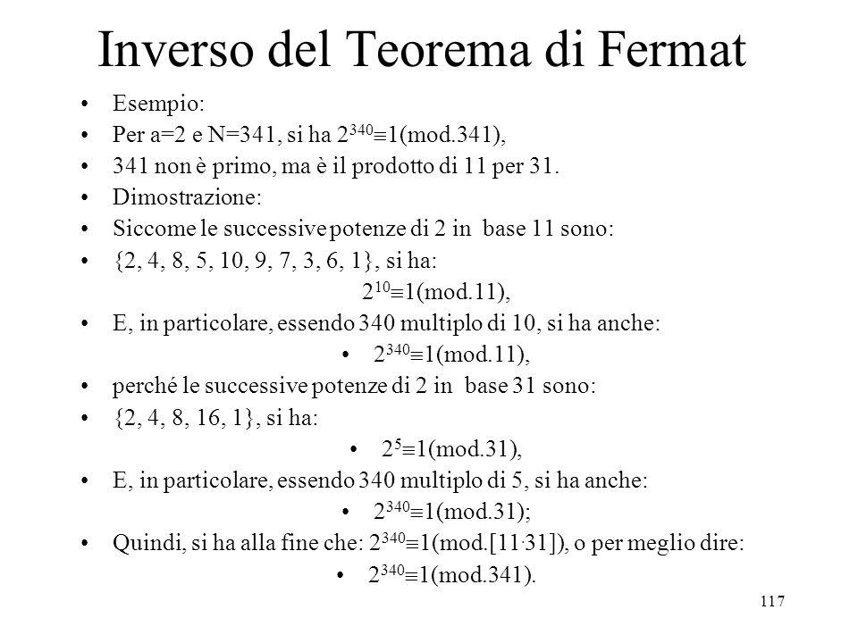 Inverso del Teorema di Fermat