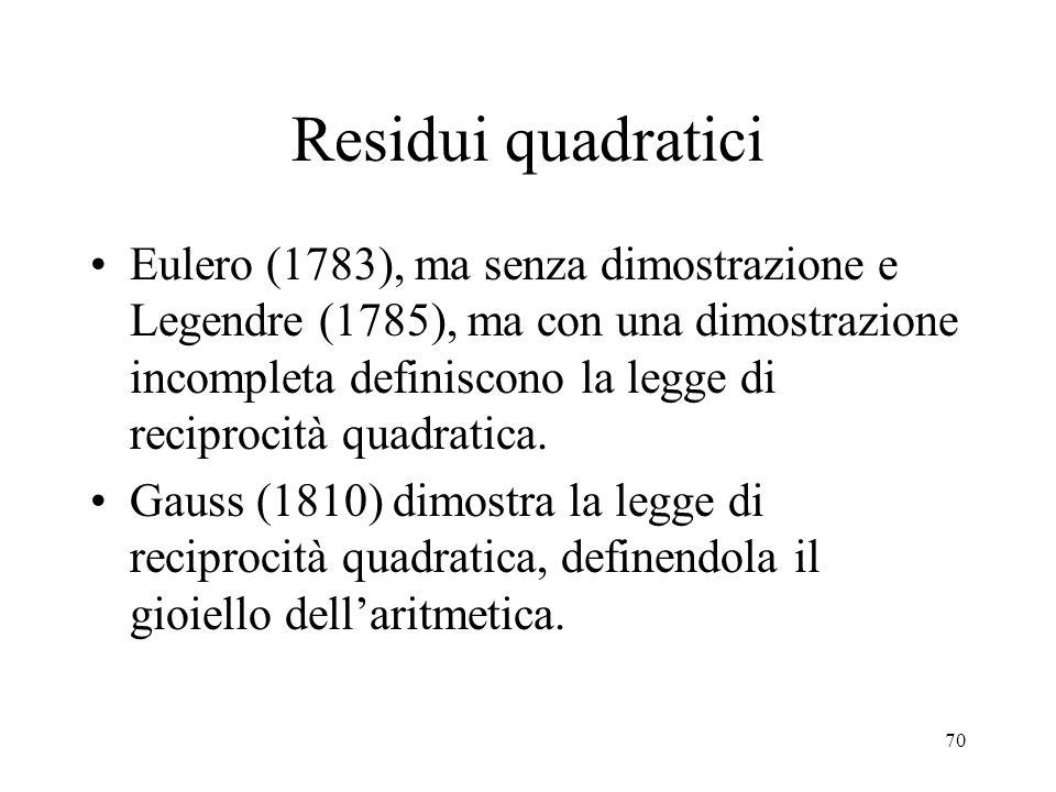 Residui quadratici