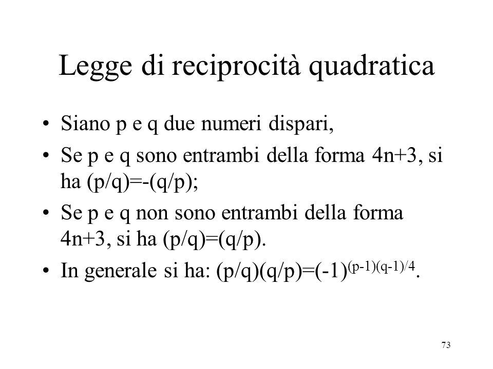 Legge di reciprocità quadratica