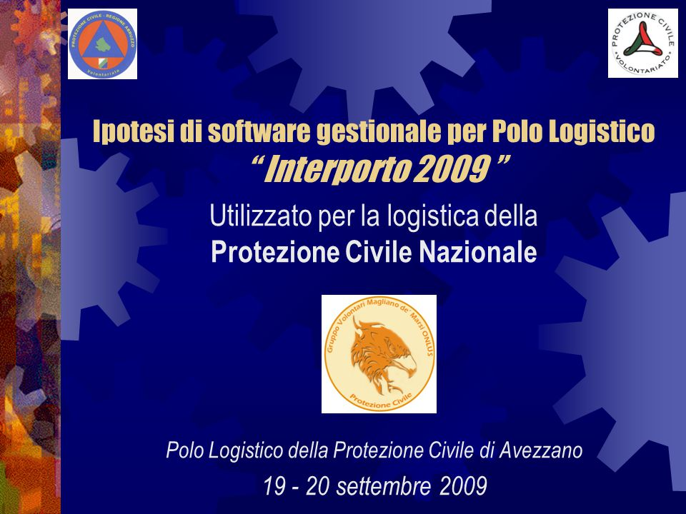 Ipotesi di software gestionale per Polo Logistico Interporto 2009