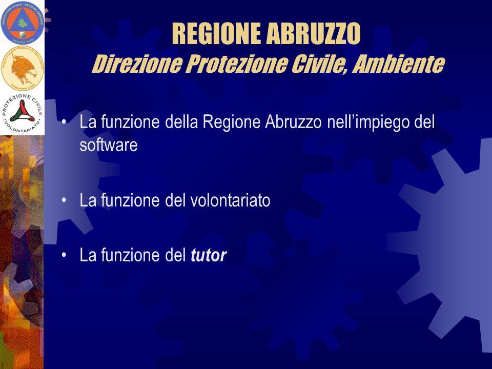 REGIONE ABRUZZO Direzione Protezione Civile, Ambiente