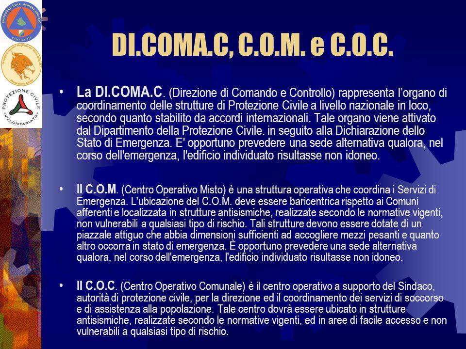 DI.COMA.C, C.O.M. e C.O.C.