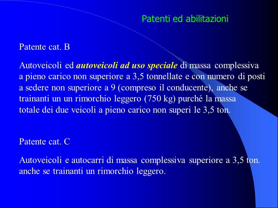 Patenti ed abilitazioni