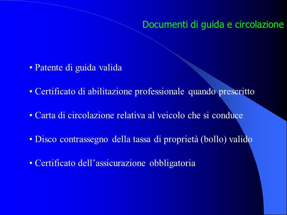 Documenti di guida e circolazione