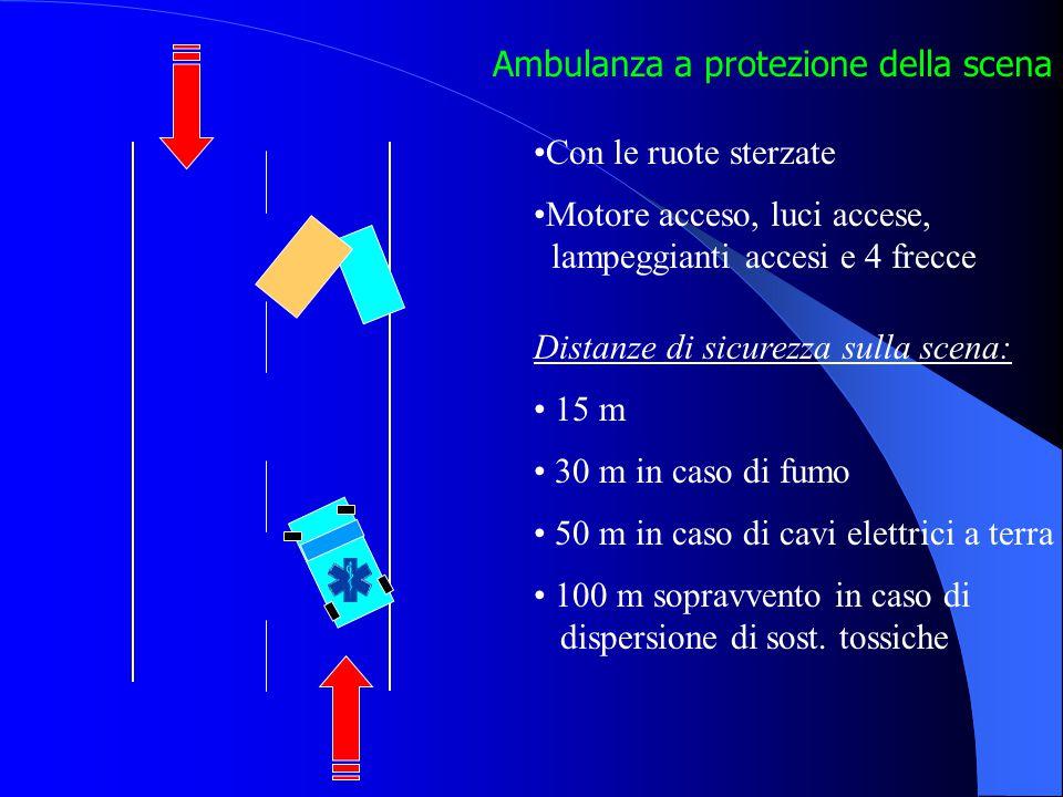 Ambulanza a protezione della scena