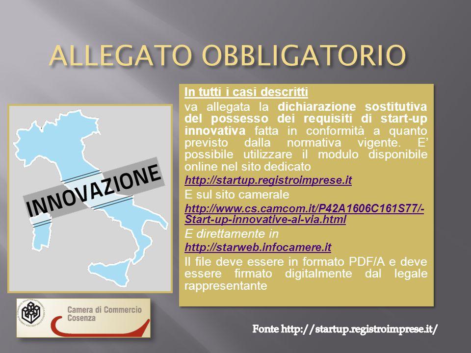 ALLEGATO OBBLIGATORIO