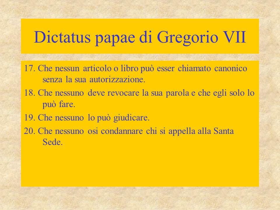 Dictatus papae di Gregorio VII