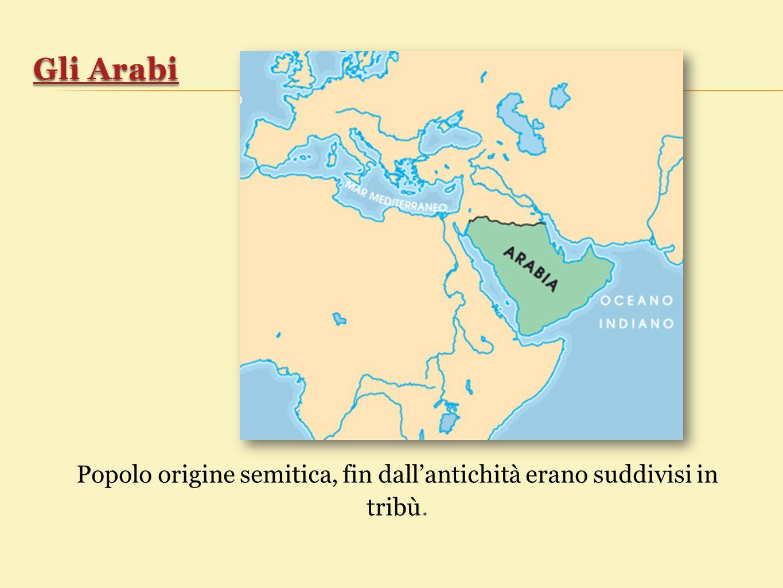 Popolo origine semitica, fin dall'antichità erano suddivisi in tribù.