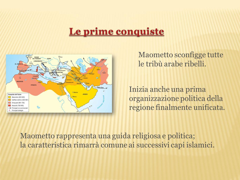 Le prime conquiste Maometto sconfigge tutte le tribù arabe ribelli.