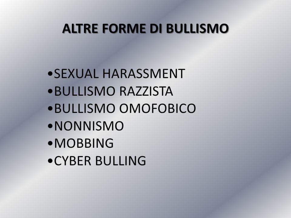ALTRE FORME DI BULLISMO